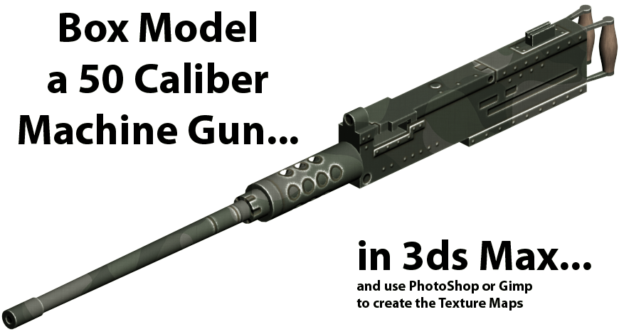 Box Modeling a gun in 3ds Max