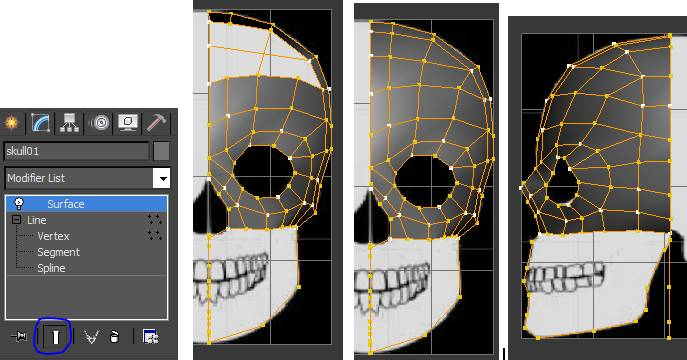 Surface Modifier on Skull