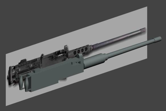 50 cal gun modeled against one background picture