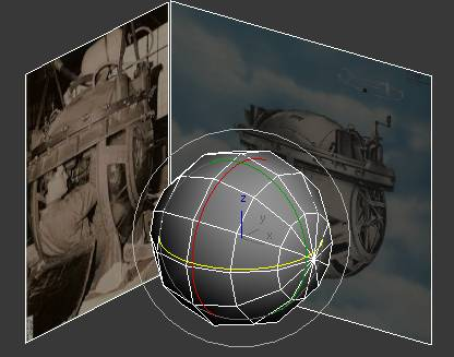 Sphere against background pictures in 3ds Max