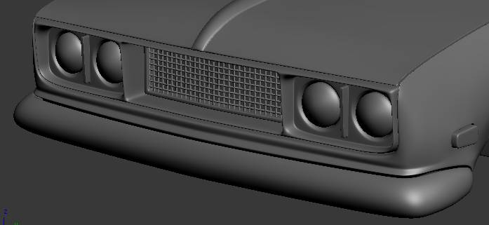 3ds max car front grill