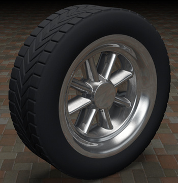 3ds Max Tire with Materials