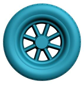 High polygon wheel in 3ds Max