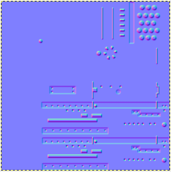 Normal Map created by Gimp