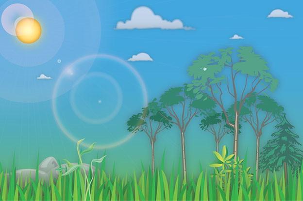 Landscape Background in Illustrator