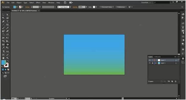 Adobe Illustrator Background Tutorial With Cartoon Landscape