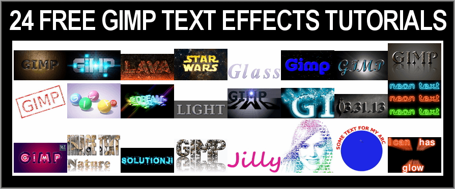 24 FREE Text Effects Tutorials for Gimp