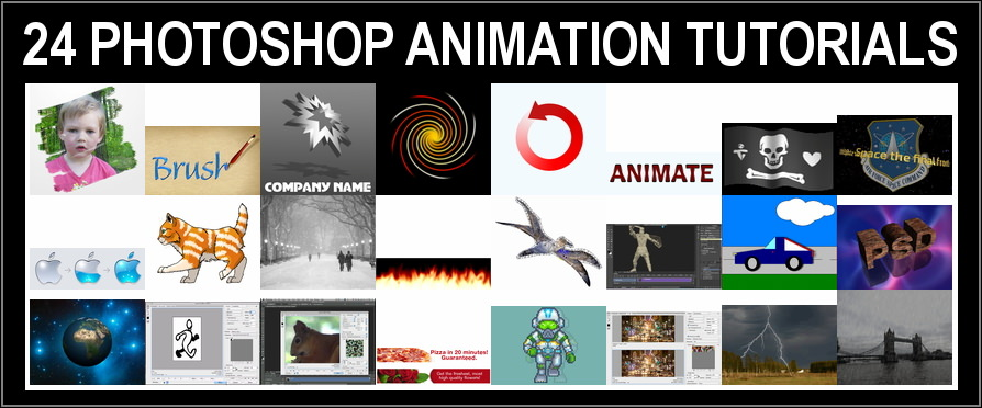 24 Tutorials on Designing Photoshop Animations